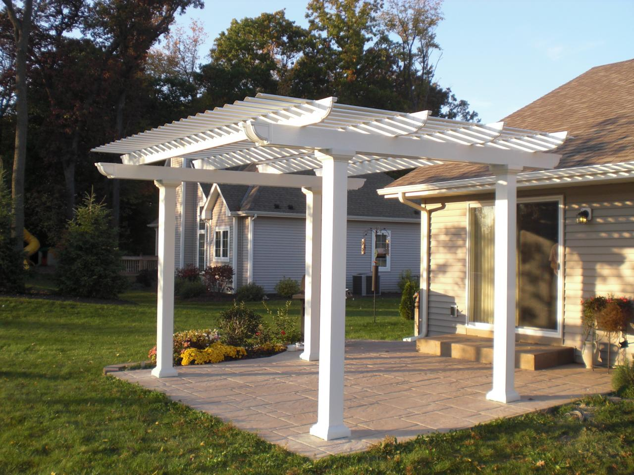 aluminum pergola kirch improvements llc. Black Bedroom Furniture Sets. Home Design Ideas